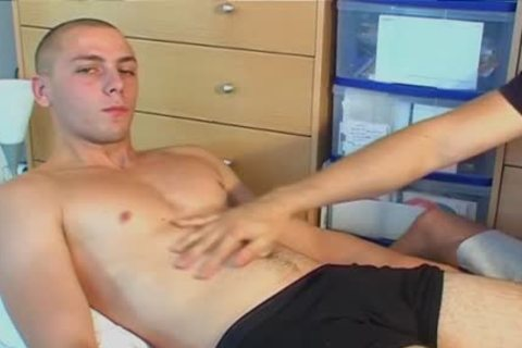 Straight fellow Serviced: Ludo 22y.o get wanked his Hard rod By A fellow !