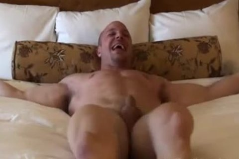 strong twink receives Teased On bed