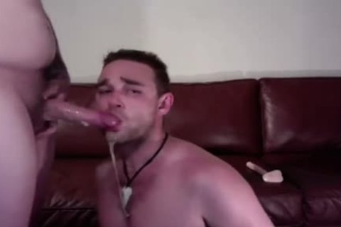 Sloppy blowjob-stimulation On webcam